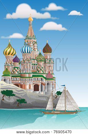 Russian Greek Islands Poster