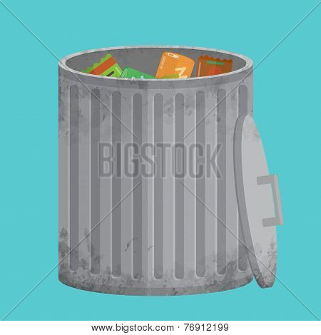 Vector Trash Can, Icon Xxl