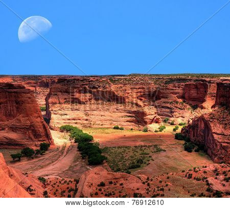 Canyon De Chelly Moonrise