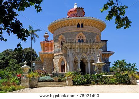 Palace of Monserrate in the village of Sintra, Lisbon, Portugal poster