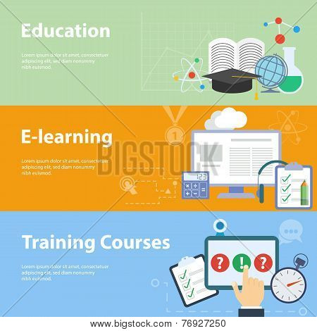 Flat vector concepts for education.