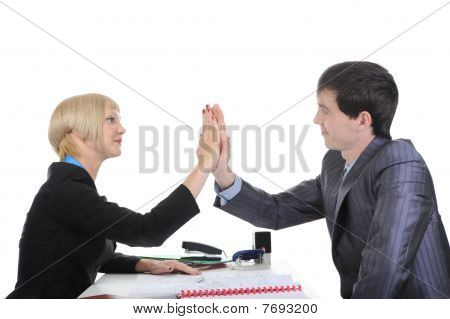Business Partners Come To An Agreement.