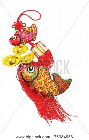 Chinese New Year Auspicious Fish and Gold Ingot ornaments - Happiness And Abundant Surplus