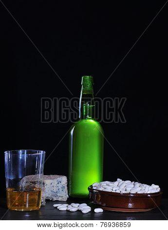 Cider Bottle And Beans..