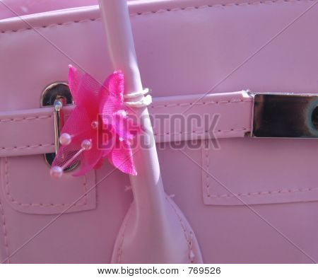 Close up of Pink Handbag
