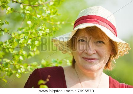 Woman In The Spring  Meadow