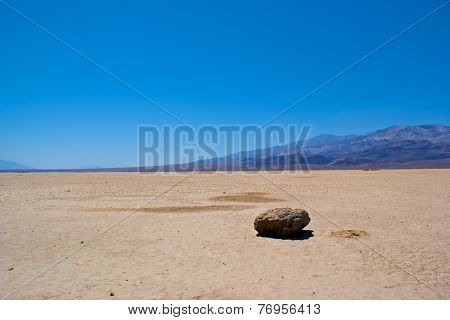 Rock On Dry Lakebed