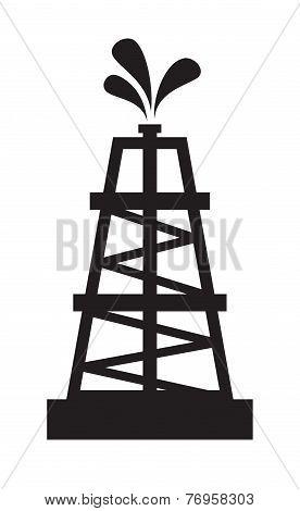 Oil rig illustration
