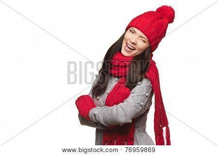 Christmas winking girl