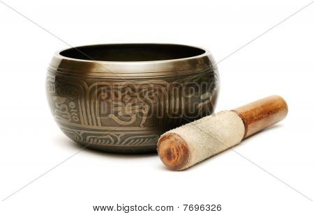 Tibetian Singing Bowl Isolated