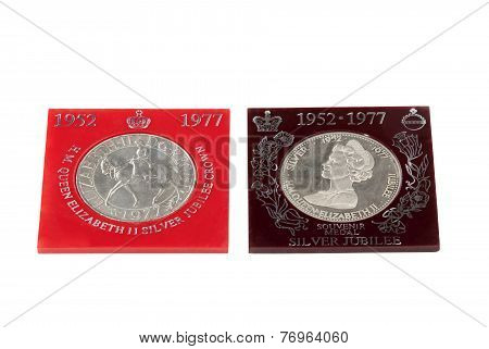 Two Medals Issued To Commemorate Queen Elizabeth's Silver Jubilee