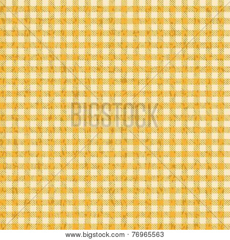 Grunge Checkered Tablecloths Patterns Yellow - Endlessly