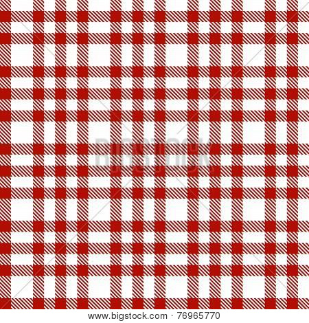 Red Checkered Pattern - Endless