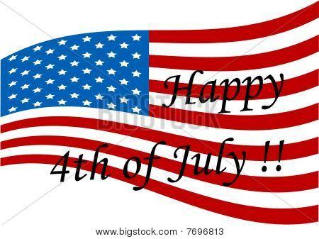 Illustration of an American ripple flag