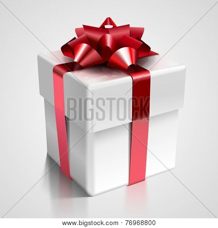 Vector gift box - design element for various holiday designs: Christmas, Valentine's day, New Year Celebrations and Birthday