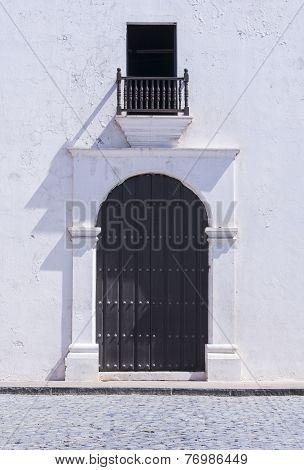 Colonial Church Entrance