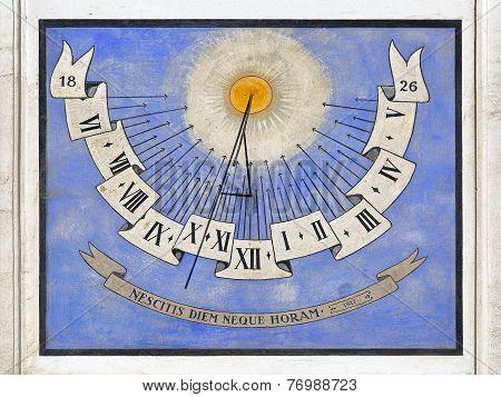 Sundial Clock Ljubljana