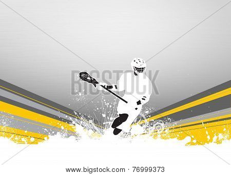 Lacrosse invitation advert poster or flyer background with empty space poster