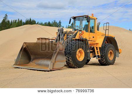 Volvo L150E Wheel Loader At A Sand Pit