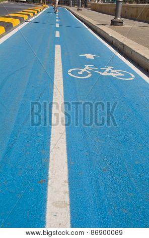 Cycling lane.