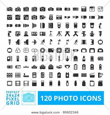 Photo Camera Icons Set