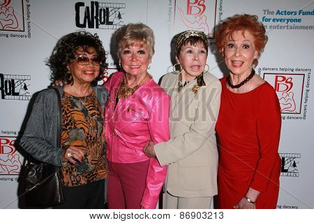 LOS ANGELES - MAR 29:  Guest, Mitzi Gaynor, Neile Adams, Carol Lawrence at the 28th Annual Gypsy Awards Luncheon at the Beverly Hilton Hotel on March 29, 2015 in Beverly Hills, CA