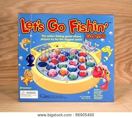 Lets Go Fishing Game Box