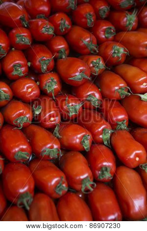 Perfect Shaped tomatoes full frame at the Vegetable Market in Paris