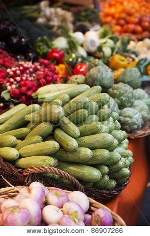 Scene at a Vegetable market in Paris