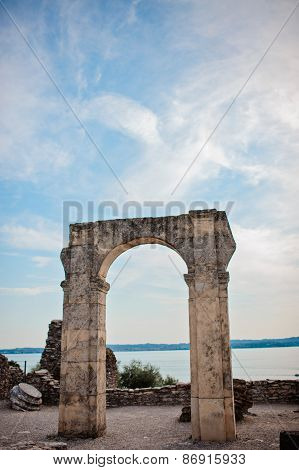 SIRMIONE, ITALY - 4 JULY 2013: Catullus caves in Sirmione, Garda Lake, Italy