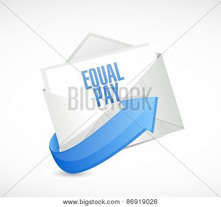 Equal Pay Email Sign Illustration Design