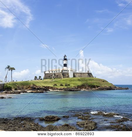 Farol Da Barra (Barra Lighthouse) In Salvador, Bahia, Brazil
