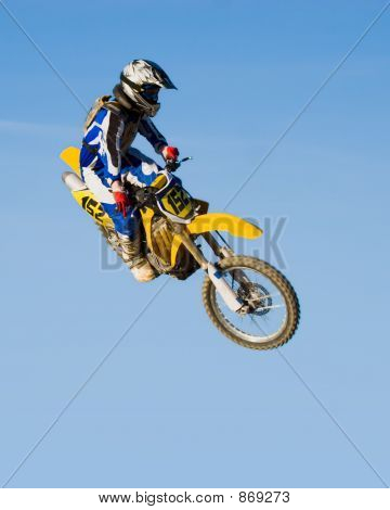 Flying Yellow Motorcycle