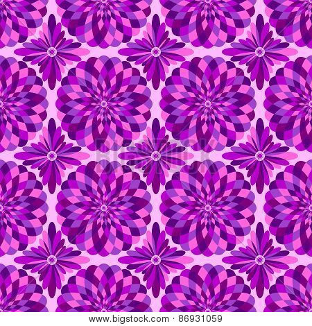 Vector abstract seamless pink pattern