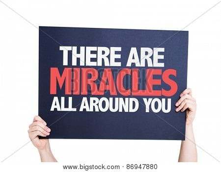 There Are Miracles All Around You card isolated on white