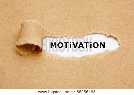 Motivation Torn Paper Concept