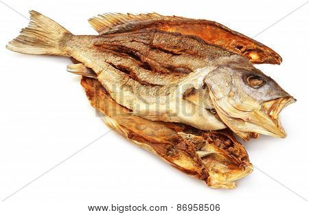 Dried Barramundi Or Koral Fish Of Southeast Asia