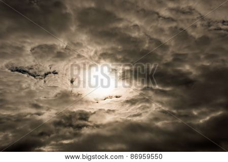 Cloudy foreboding sky
