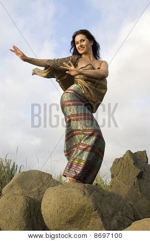 Thai dance on stones