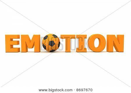 Futebol emoção laranja