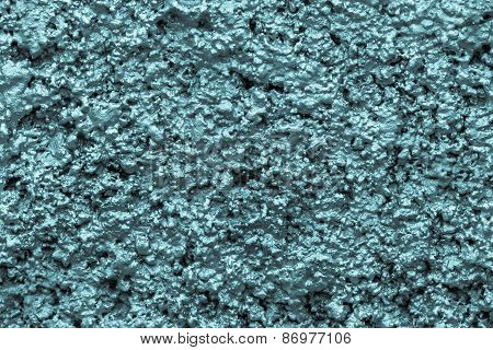 Bumpy Wall Surfaces Of Blue Color