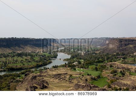 The Snake River Canyon Near Twin Falls, Idaho