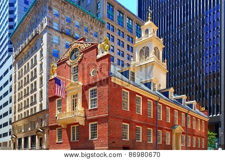Boston Old State House building in Massachusetts  USA