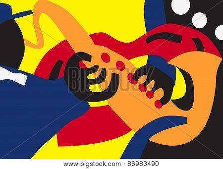 jazz man illustration