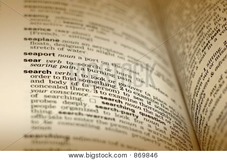 Dictionary definition - search