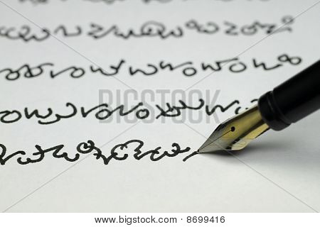 foreign writing