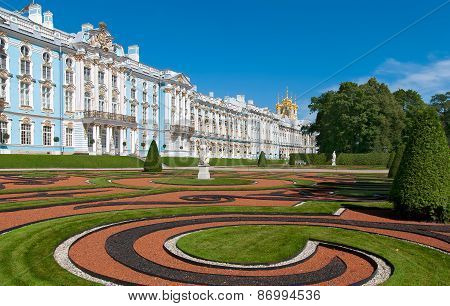 Tsarskoye Selo (Pushkin), Saint-Petersburg, Russia. The Catherine Park and Palace