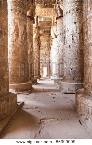Columns In Dendera Temple