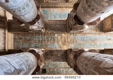 Ceiling Of The Temple Dendera