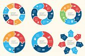 Circular infographic template for cycling diagram, graph, presentation and chart poster
